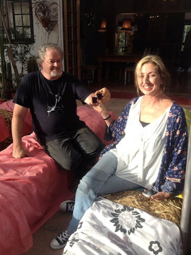 Jacques Pauw and Sam Rogers at Red Tin Roof Riebeek Kasteel